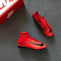 Бутсы Nike Mercurial Superfly V FG - Bright Crimson/White/University Red/Hyper Crimson