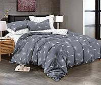 Двуспальный комплект постельного белья евро 200*220 сатин (10095) TM КРИСПОЛ Украина