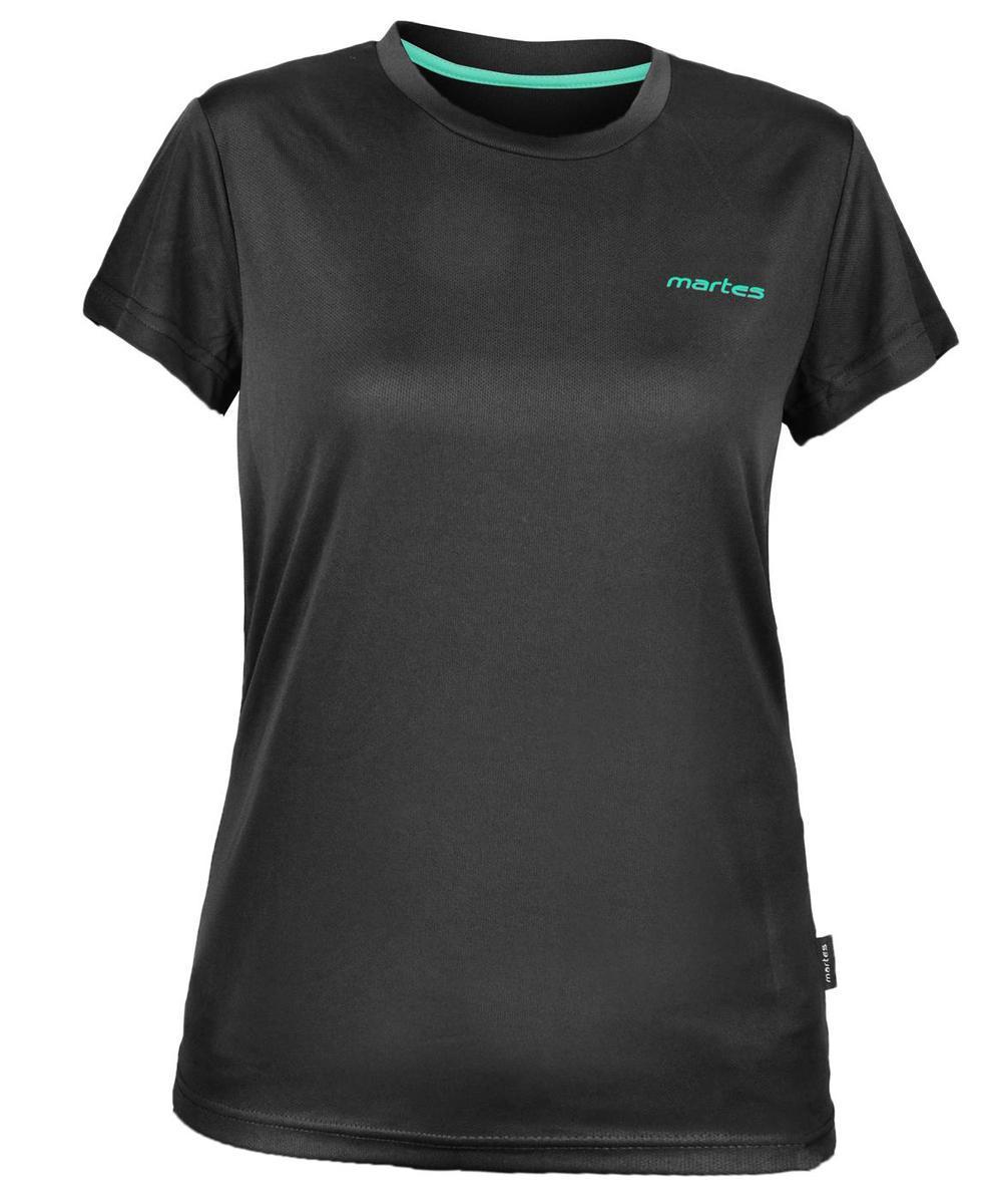 Спортивная футболка женская Martes Lady Solan BLACK-MINT