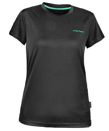 Спортивная футболка женская Martes Lady Solan BLACK-MINT, фото 2