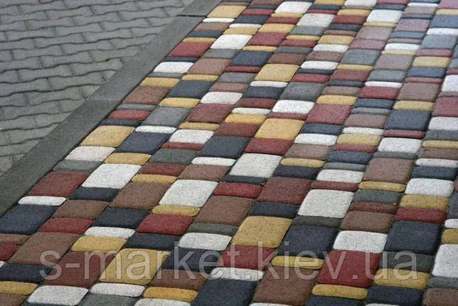 Тротуарная плитка Старый Город (Серый) h - 60