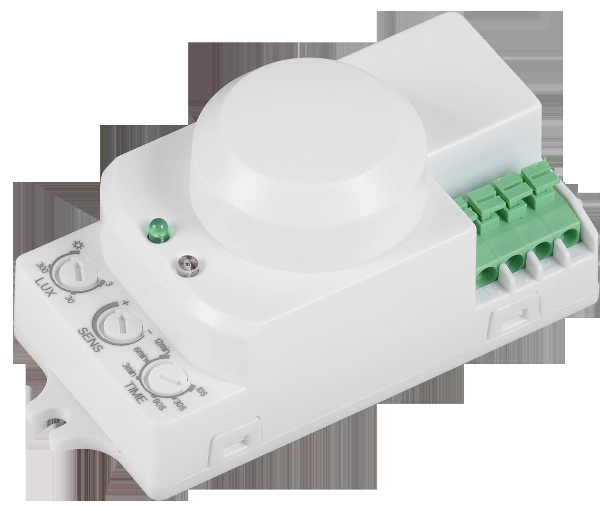 Датчик движения ДД-МВ 201 белый, 1200Вт, 360 гр.,8М,IP20,IEK (LDD11-201MB-1200-001)