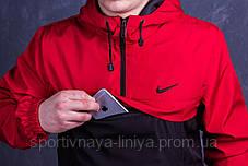 Копия Мужской Анорак оранжевый + черный Nike Найк реплика, фото 2