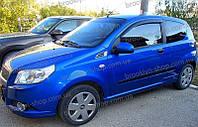 Дефлекторы окон Chevrolet Aveo I Hb 3d 2008-2011 (Шефроле Авео) Cobra Tuning