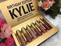 Набор жидких матовых помад KYLIE Birthday Edition 6 в 1 (золото)