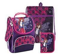 Комплект 3 в 1 рюкзак, пенал и сумка для сменки Kite Winx fairy couture Винкс