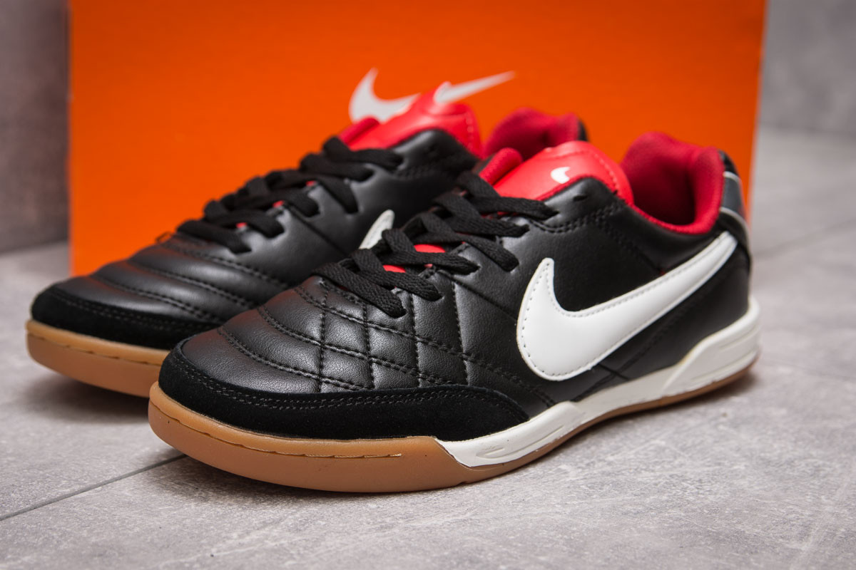 Кроссовки мужские Nike Tiempo, черные (13962),  [  42 43  ]