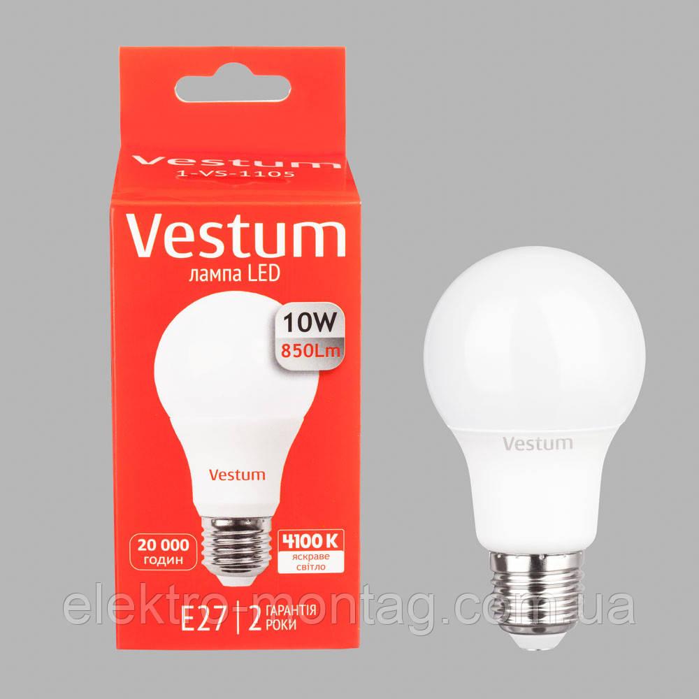 Светодиодная лампа Vestum LED  A60 10W 4100K 220V E27