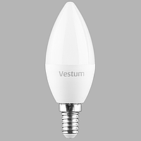 Светодиодная лампа Vestum C37 8W 4100K 220V E14