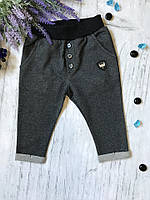 Штаны для мальчика Breeze темно-серые в полоску 1. Размер 74 см, 80 см, 86 см, 92 см, 98 см