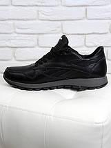 Мужские кроссовки Reebok черная кожа 6312-28, фото 3