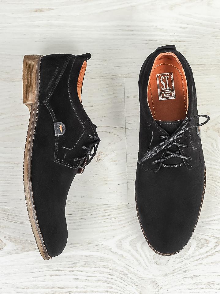 Мужские туфли натуральная замша 6377-28