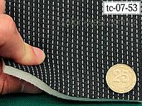 Авто-ткань (Германия) для центральной части автомобиля, черно-серая, на поролоне и сетке 07-53, фото 1