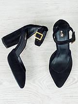 Босоножки - туфли Bogemiya черная замша 6394-28, фото 2