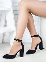 Босоножки - туфли Bogemiya черная замша 6394-28, фото 3
