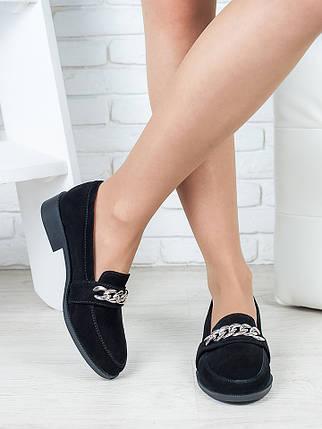 Туфли лоферы Цепи замша 6400-28, фото 2