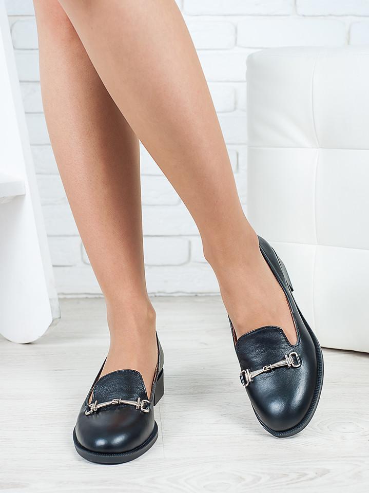 Туфли лоферы Пряжка кожа 6417-28