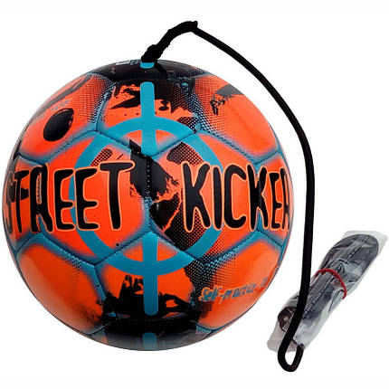 Мяч футбольный SELECT STREET KICKER (327) оранж/голуб р.4, фото 2