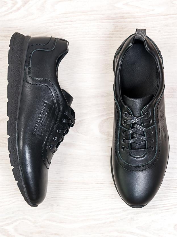 Мужские черные кроссовки 6686-28