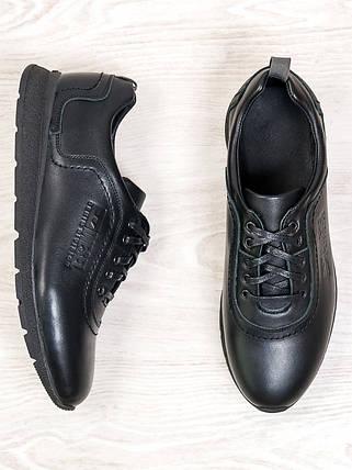 Мужские черные кроссовки 6686-28, фото 2