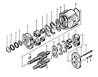 Шестеренный насос | Гидравлическая система фронтального колесного погрузчика XCMG ZL50G