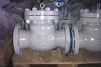 Клапан обратный 19с17нж Ду100 Ру40 Т-450С поворотный с ревизионной крышкой фланцевый