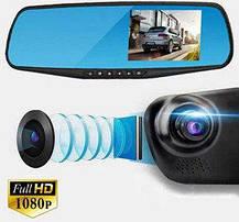 Видеорегистратор зеркало 1080P на 2 камеры DVR FULL HD, фото 3
