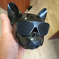 Колонка портативная беспроводная Bluetooth Голова Собаки dog's head «CoolDog Французский Бульдог», фото 1