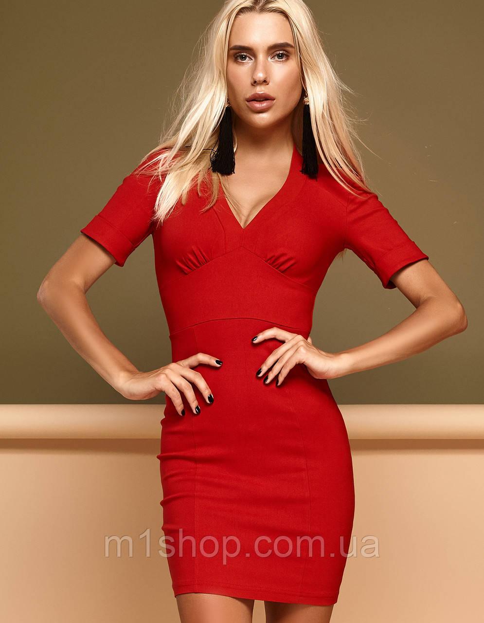 Женское короткое стрейчевое платье-футляр (Стейси jd)