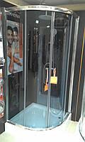 Душова кабіна 90x90х5.5 INVENA з піддоном графіт