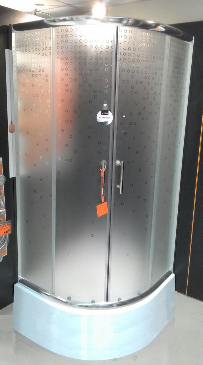 Душова кабіна 90x90 INVENA бульбашки з середнім піддоном 28,5см