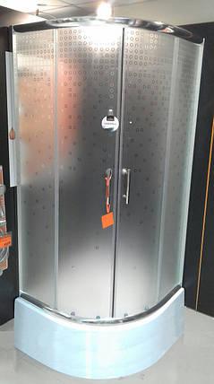Душова кабіна 90x90 INVENA бульбашки з середнім піддоном 28,5см, фото 2