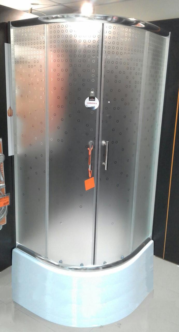 Душова кабіна 90x90х27 INVENA бульбашки