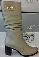 Сапоги женские зимние на устойчивом каблуке из натуральной кожи от производителя модель СВ- 26, фото 1
