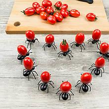 """Шпажки для канапе """"Муравьи"""" - в наборе 12шт., размер одного муравья около 4,5*4,5см, пластик"""