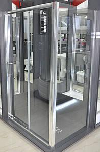 Кабіна душова прямокутна VILARTE SD-120 140х90х185 без піддону Польща
