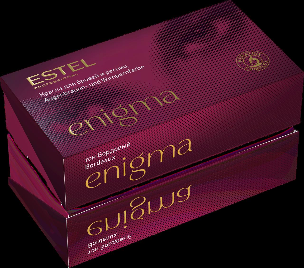 Краска для бровей и ресниц бордовый Estel Enigma