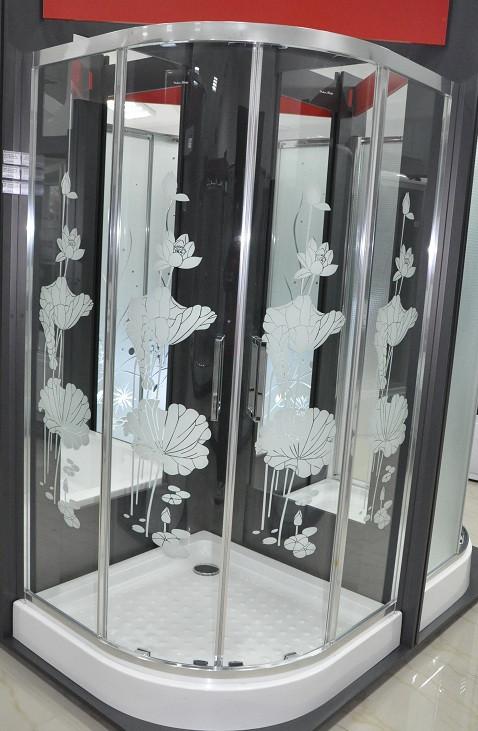 Душова кабіна з піддоном 16см Italian Style FONTE квіти 90х90х200 Італія