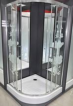 Душова кабіна з піддоном 16см Italian Style FONTE квіти 90х90х200 Італія, фото 2