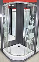 Душова кабіна з піддоном 16см Italian Style FONTE квіти 90х90х200 Італія, фото 3