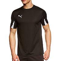 Футболка спортивная мужская Puma T-Shirt Team 701269 03 (черная, полиэстер, для тренировок, логотип пума)