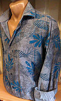 Рубашка мужская с длинным рукавом приталенная DERGI 3002
