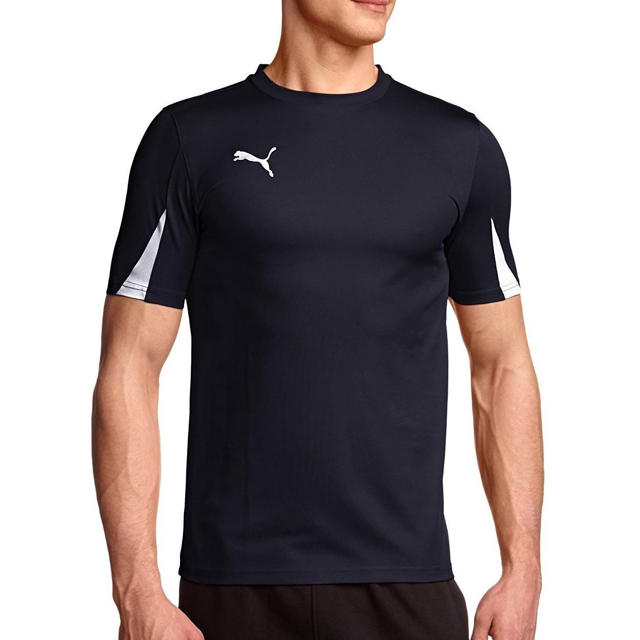 d71da383b08f Футболка спортивная мужская Puma T-Shirt Team 701269 06 (темно-синяя,  полиэстер, для тренировок, логотип пума)