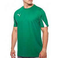 Футболка спортивная мужская Puma T-Shirt Team 701269 05 (зеленый, полиэстер, для тренировок, логотип пума)