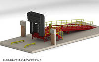 Эстакада перегрузочная 12м 6т с платформой уравнительной 1.8х2м и фермой выносной 90 и герметизатором надувным