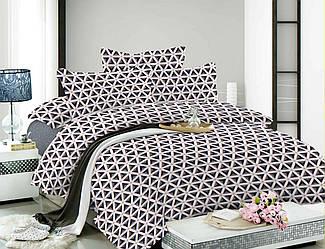 Семейный комплект постельного белья 150*220 из сатина Черно-белое утро