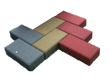 Тротуарна плитка Цеглинка (Кольоровий) h - 60, фото 2