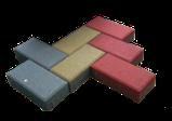 Тротуарная плитка Кирпичик (Серый) h - 60, фото 2