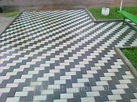 Тротуарная плитка Кирпичик (Серый) h - 60