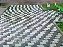 Тротуарна плитка Цеглинка (Сірий) h - 40